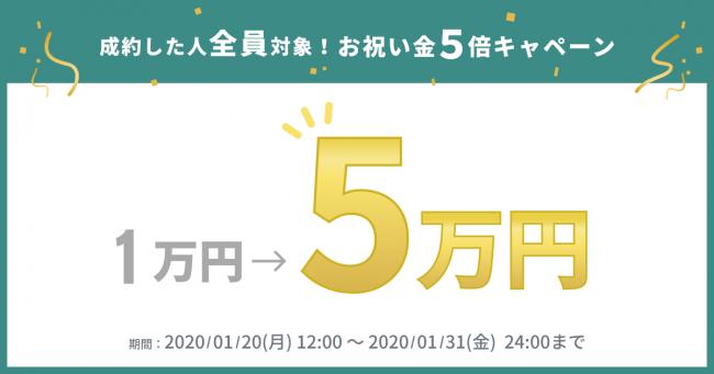 5万円キャンペーン